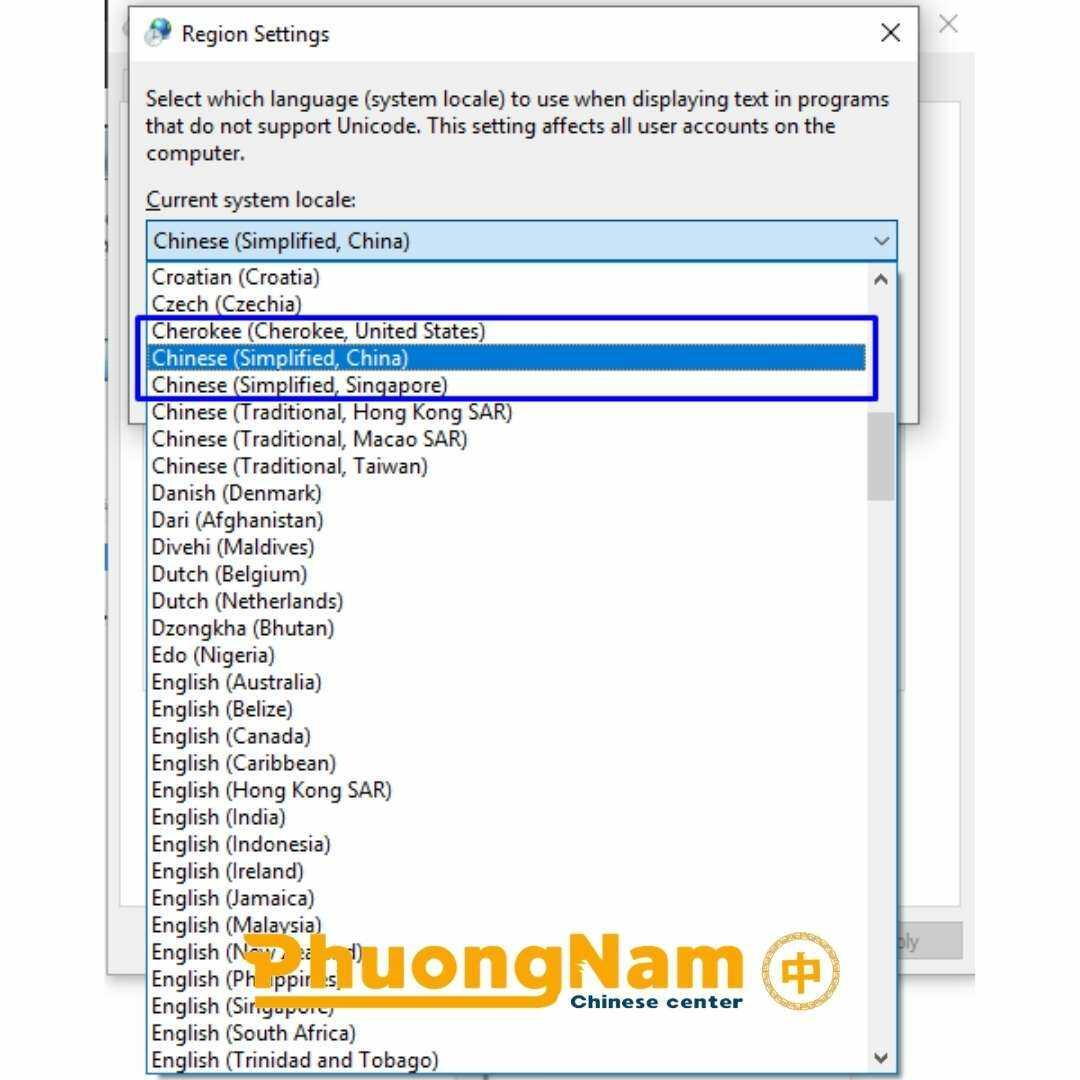 ⇒ Bước 4 Lựa chọn ngôn ngữ Chinese( Simplified China) sau đó ấn OK. Sẽ có thông báo khởi động lại máy cho bạn, nhấn Restart now để hoàn tất quá trình