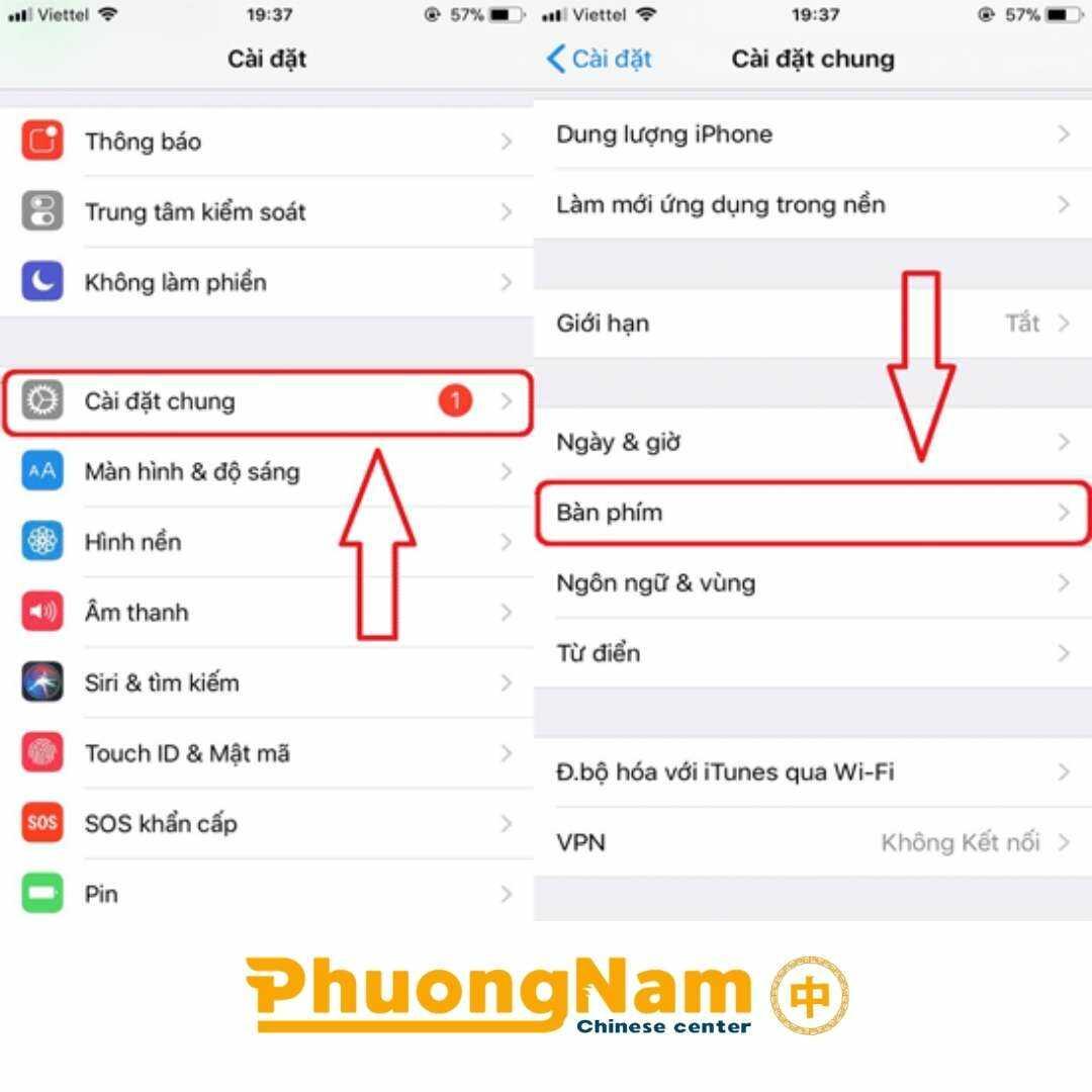 Cài bộ gõ tiếng Trung cho hệ điều hành IOS